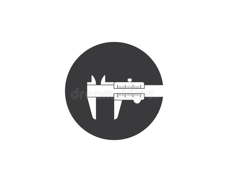 Caliper logo icon vector illustration design. Template vector illustration