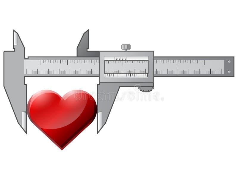 Download Caliper measures heart stock vector. Image of measure - 26353637
