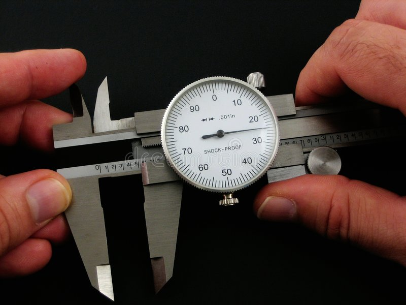 Caliper use royalty free stock images