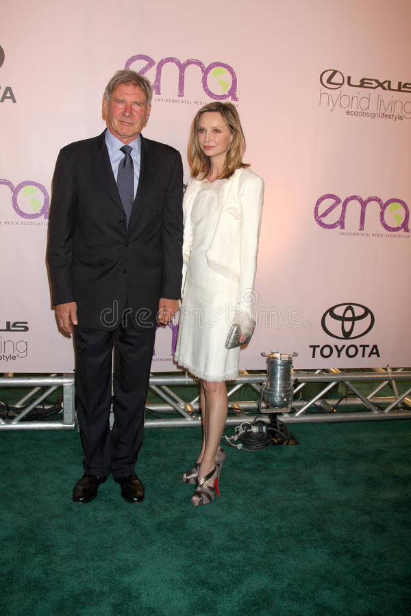 Calista Flockhart, Harrison Ford zdjęcia royalty free