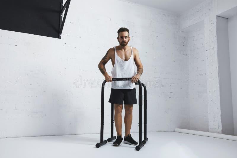 Calisthenic och bodyweightövningar arkivfoto
