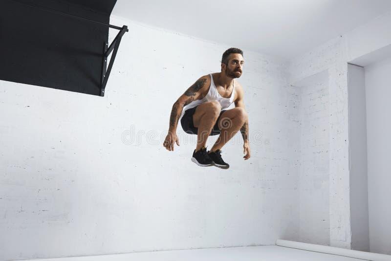 Calisthenic och bodyweightövningar royaltyfria bilder