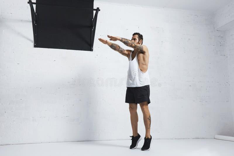 Calisthenic och bodyweightövningar fotografering för bildbyråer