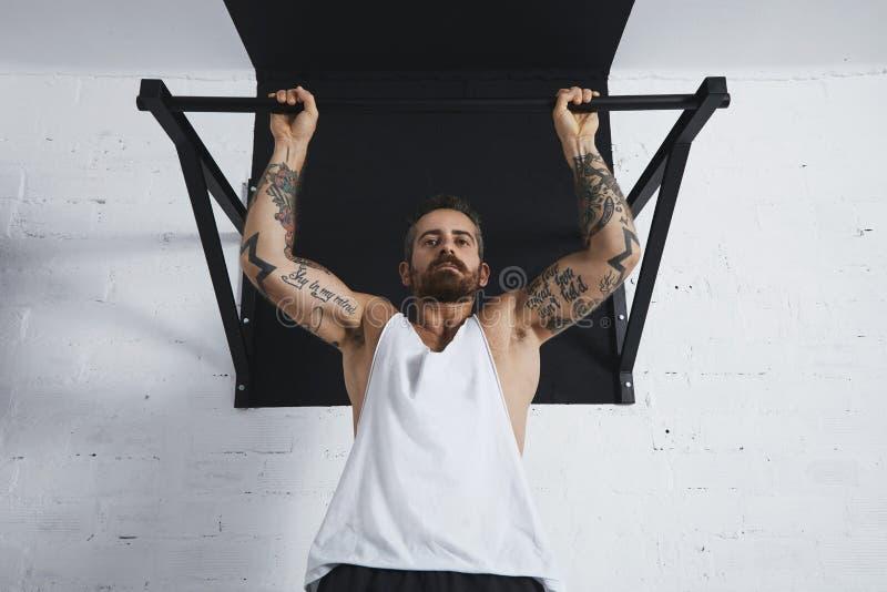 Calisthenic och bodyweightövningar arkivfoton