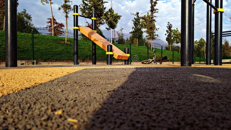 Calisthenics Park In The Solitude royalty free stock image