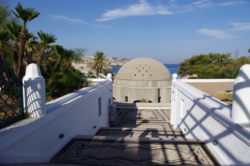 Calitea Rhodes Greece Kallithea Therme immagini stock libere da diritti