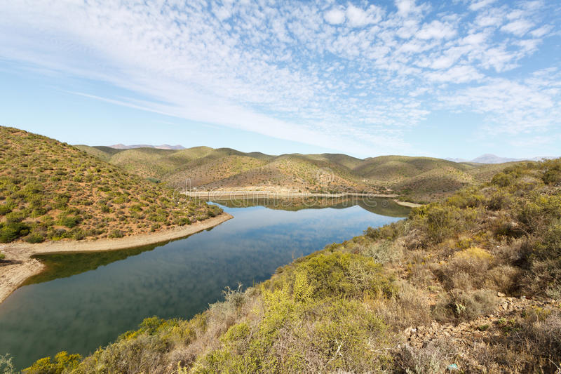 The Calitzdorp Dam royalty free stock image
