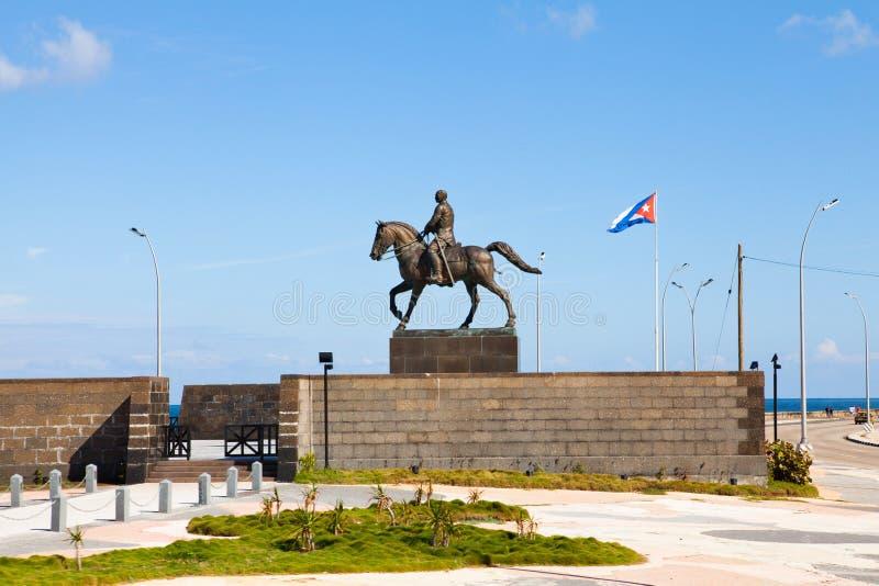 Calixto Garcia monument i havannacigarren, Kuba royaltyfria bilder