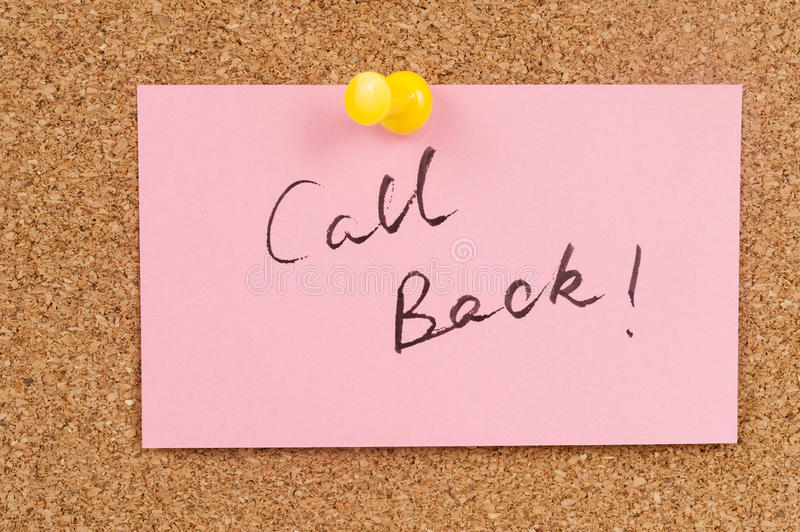 Call back stock image
