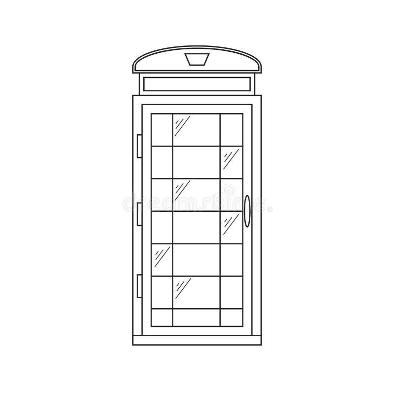 Call-Box London Thin Line. Vector royalty free illustration