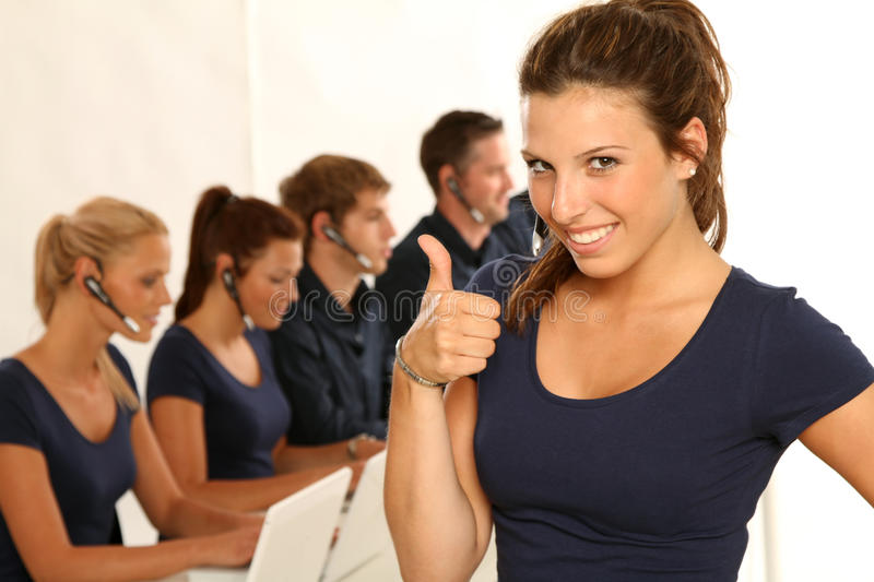 Call-center stock photo