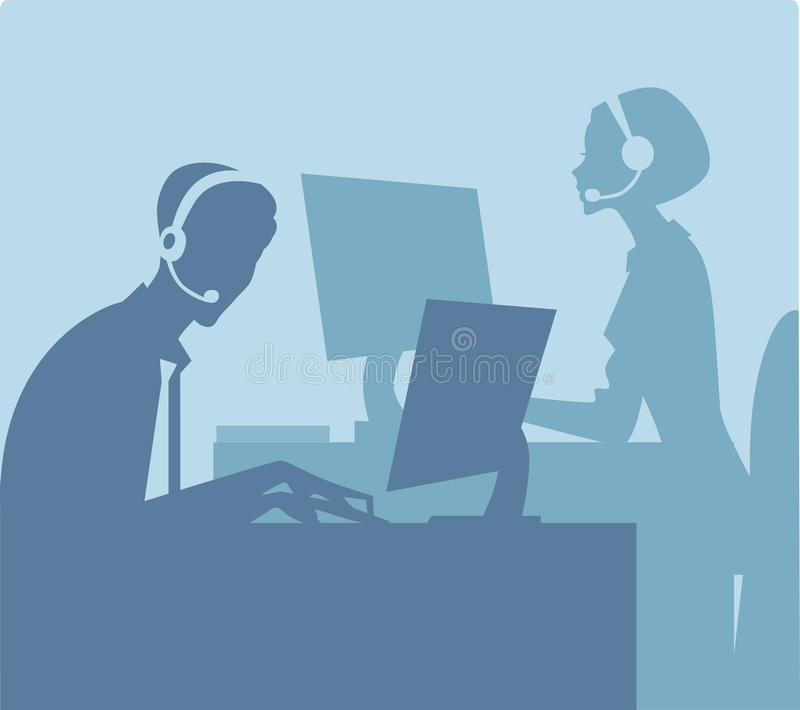 Call center stock illustration