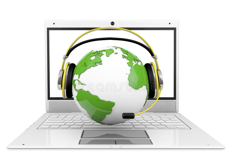 Download Call-center stock illustration. Image of call, globe - 27138685