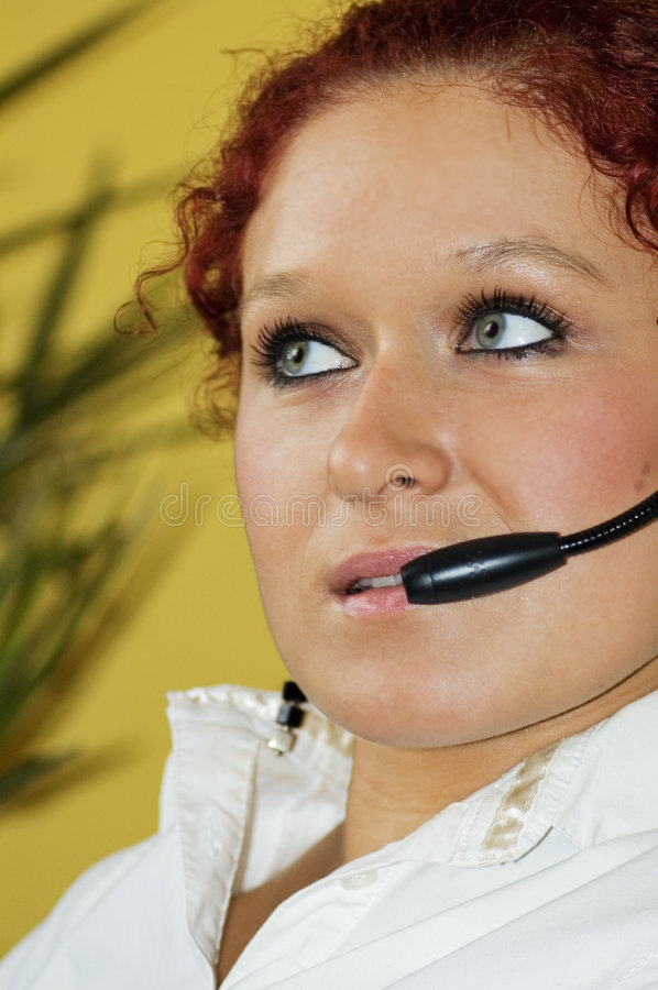 call center arkivfoton