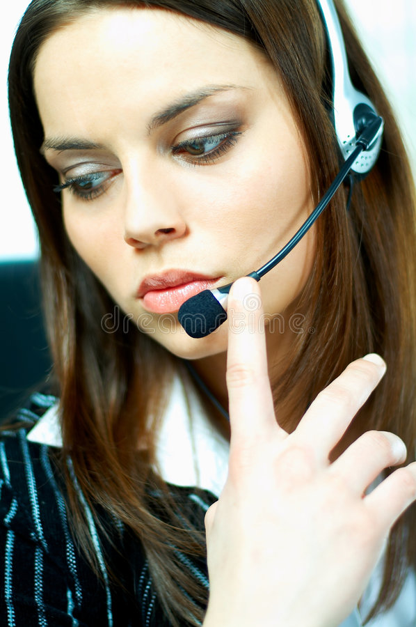 Download Call Center Agent stock image. Image of girl, information - 631851