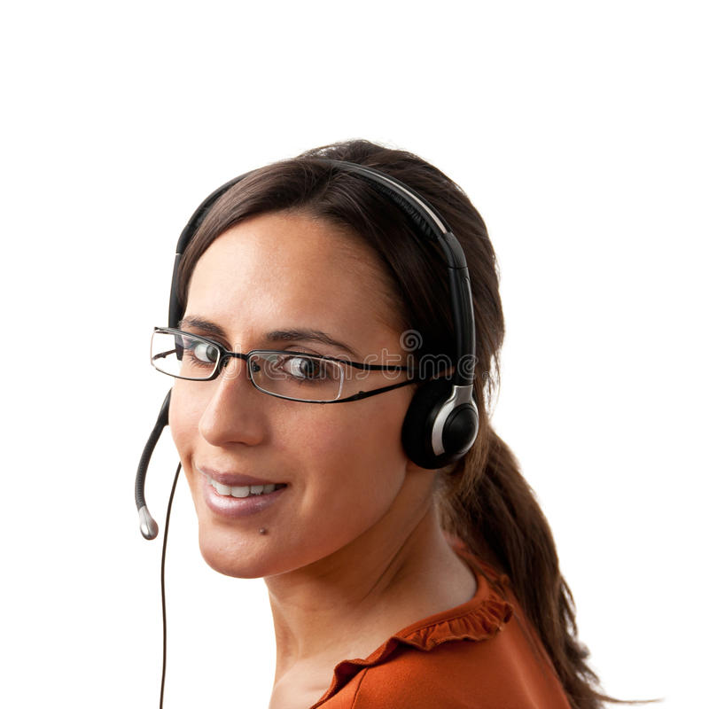 Download Call Center Agent Looking Back Stock Photo - Image of communicate, handsfree: 23488810