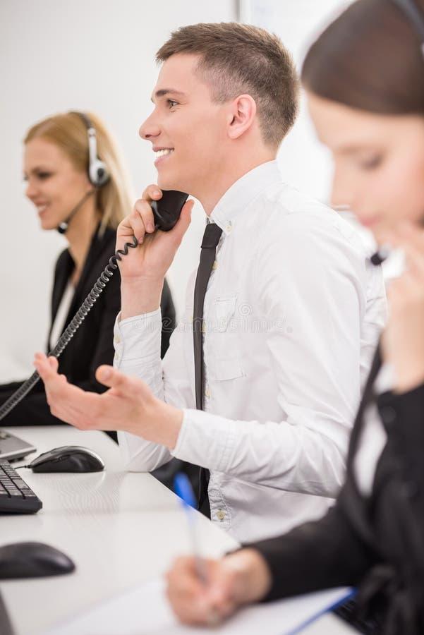 Call center stock photo
