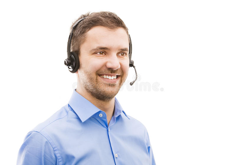 Call-Center-Betreiber stockfoto