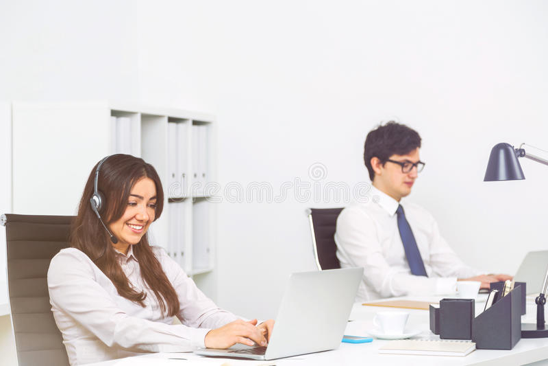 Call-Center-Betreiberseite stockfoto