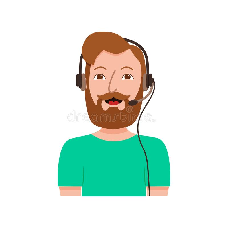 Call center customer support phone operator assistants royalty free illustration
