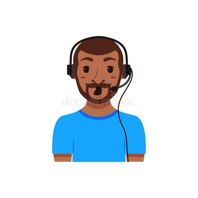 Call center customer support phone operator royalty free illustration