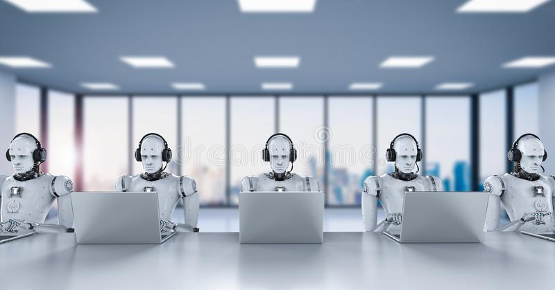 Call center dei robot illustrazione di stock