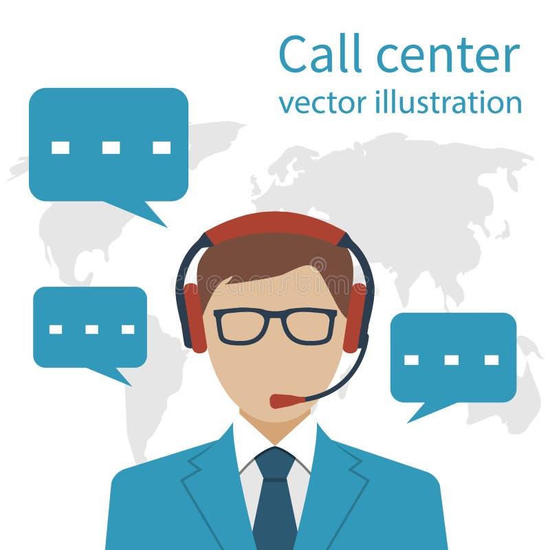 Call center dell'operatore illustrazione di stock