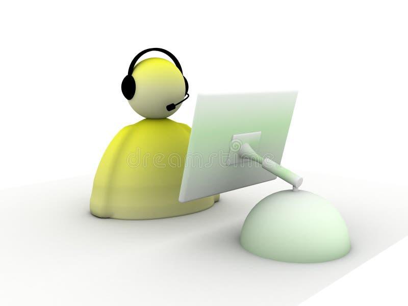 Call center di sostegno illustrazione vettoriale