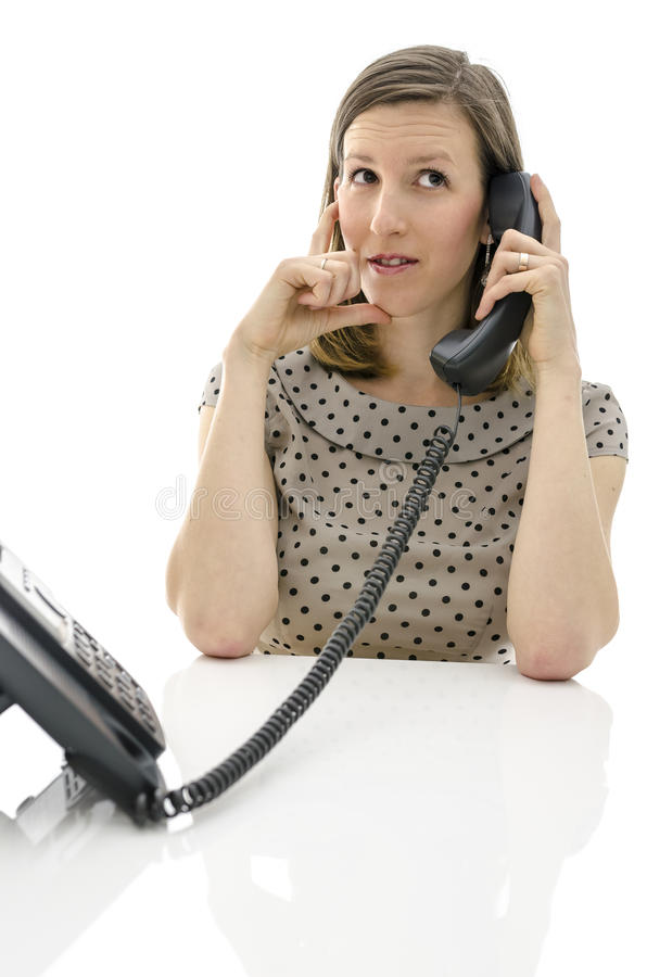 Download Call Center Employee On A Telephone Stock Photo - Image: 29779654