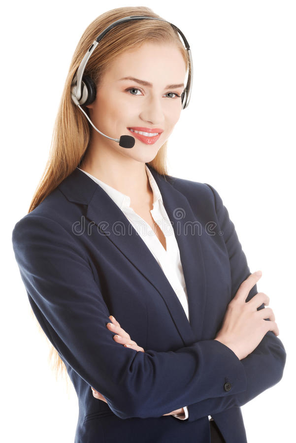 Call center girl. royalty free stock images