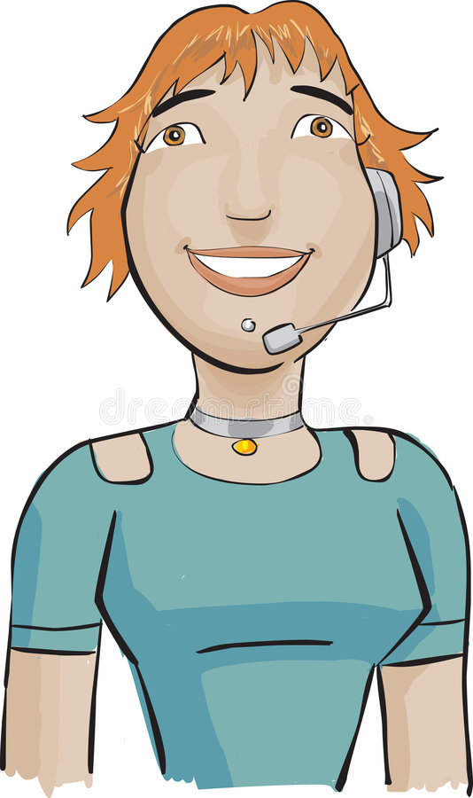 Download Call Center Girl With A Green Royalty Free Stock Images - Image: 3621569