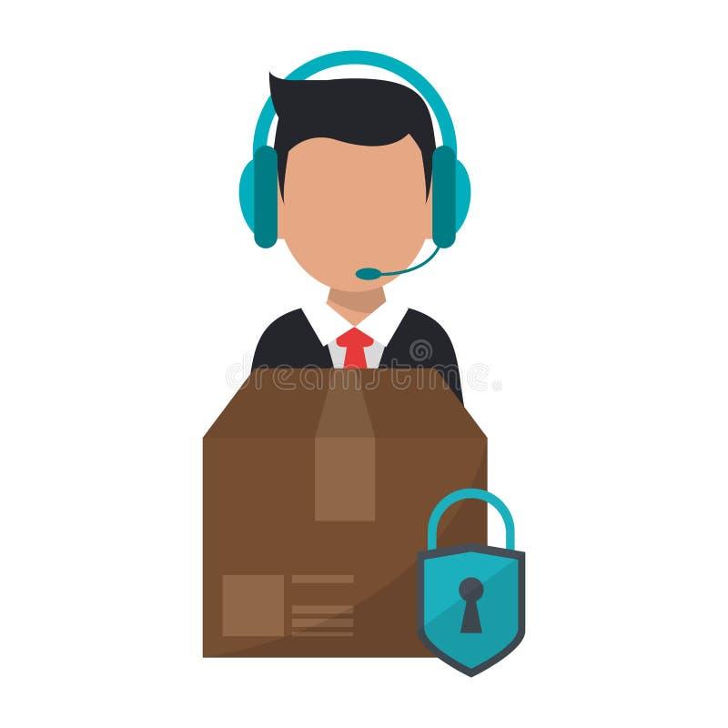 Call-Center-Kundendienst lizenzfreie abbildung