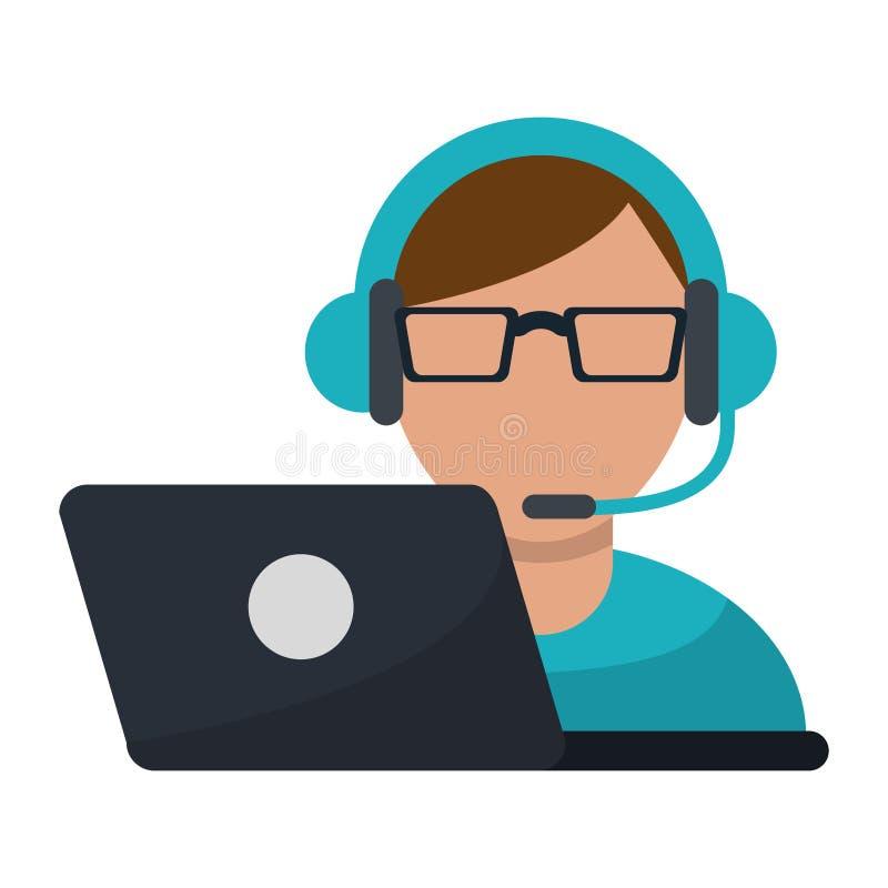 Call-Center-Kundendienst stock abbildung
