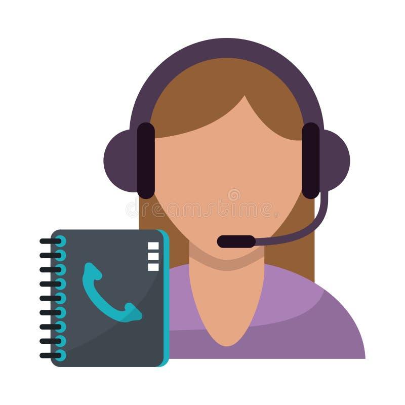 Call-Center-Kundendienst vektor abbildung