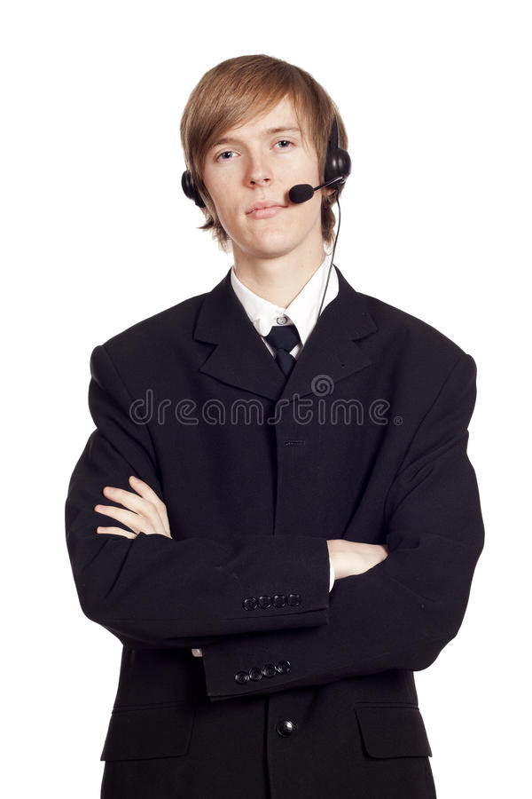 Download Call Center Male Operator Stock Photo - Image: 23494350