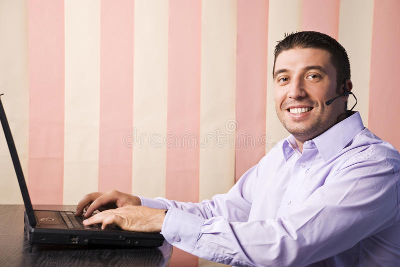 Call center man stock images