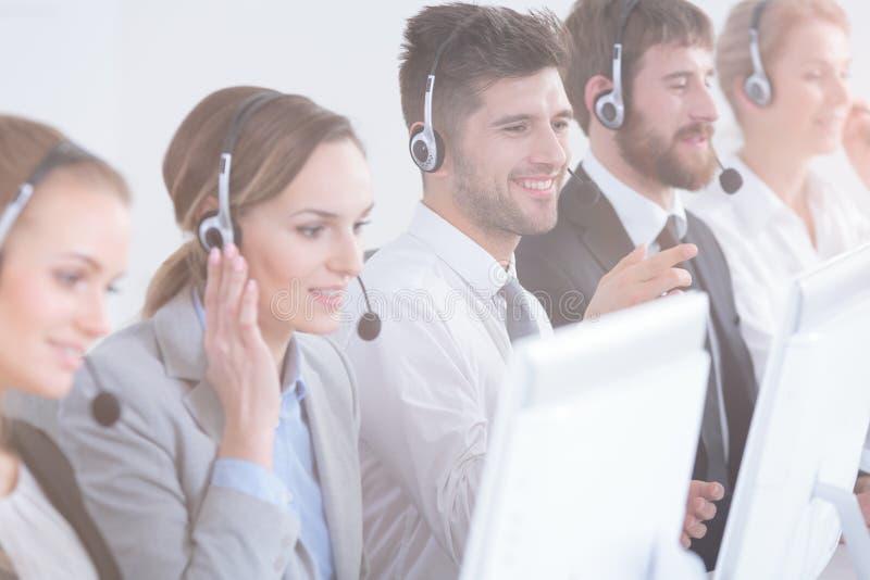 Call-Center-Mittel lizenzfreie stockfotos