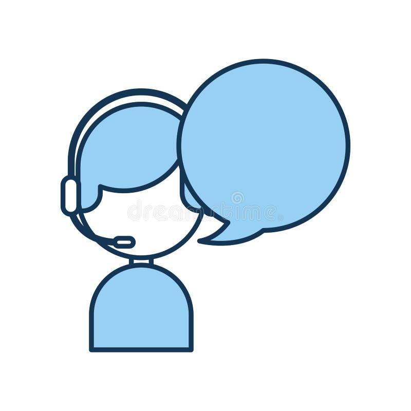 Call-Center-Mittel mit Spracheblasenavatara lizenzfreie abbildung