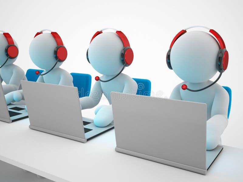Call-Center oder Unterstützung vektor abbildung