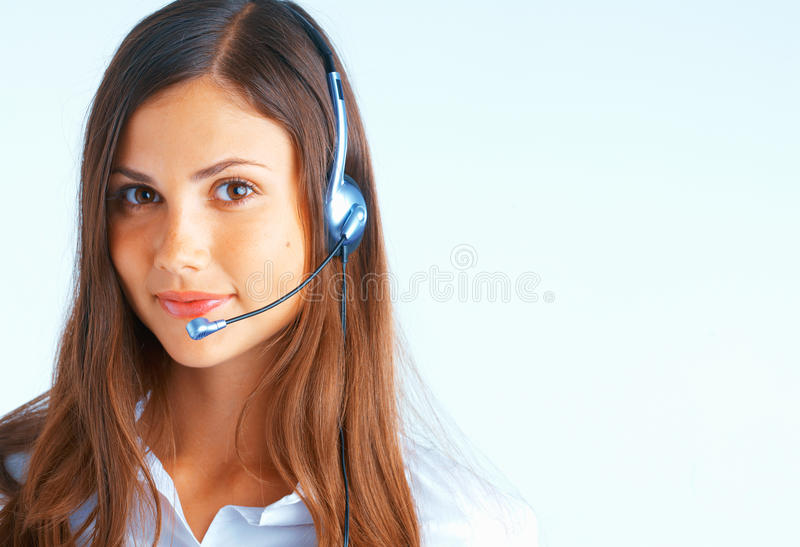 Download Call Center Operator stock photo. Image of isolated, headphone - 11550694
