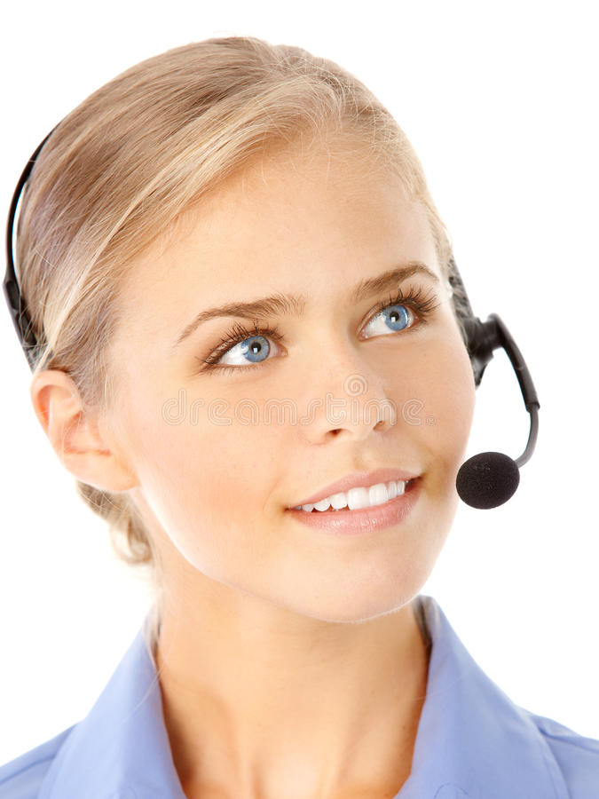 Call Center Operator royalty free stock photo