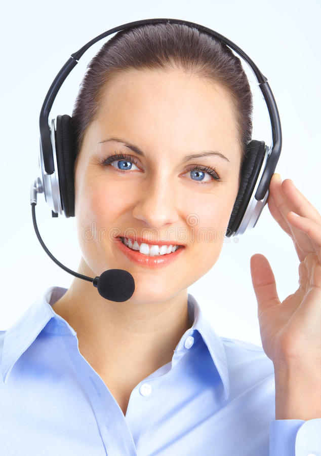 Download Call Center Operator stock photo. Image of customer, caucasian - 18332712