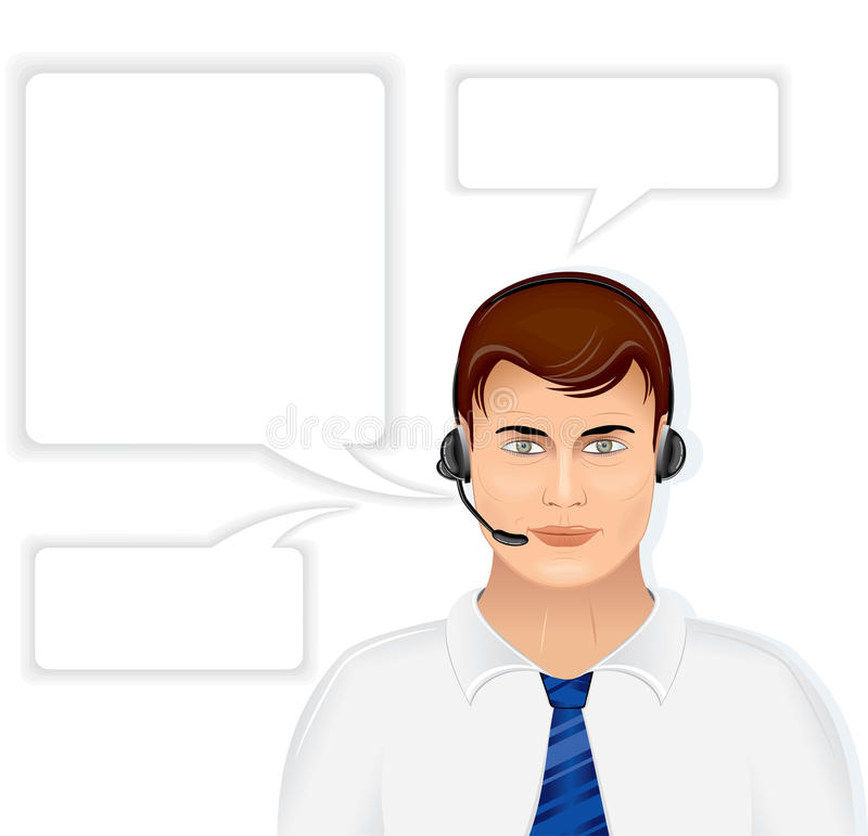 Download Call Center Operator stock vector. Image of operator - 22907599