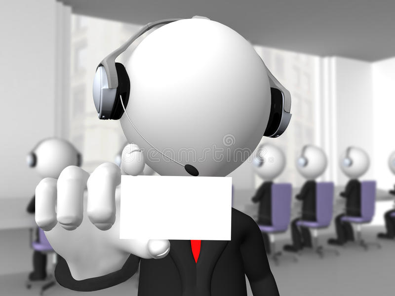 Download Customer service agent stock illustration. Image of headset - 25808238