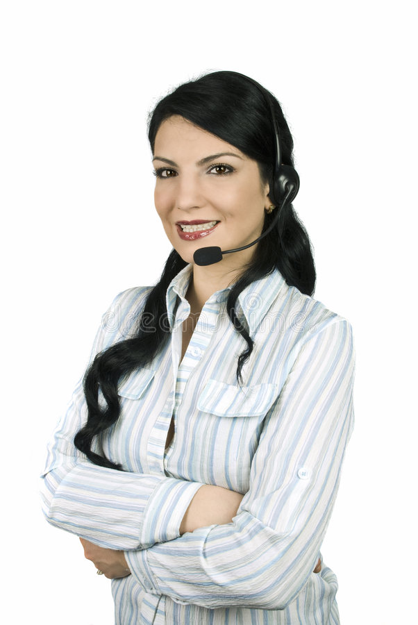 Download Call center operator stock image. Image of businesswoman - 8211617