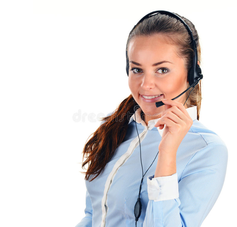 Call center operator. Customer support. Help desk.  royalty free stock image