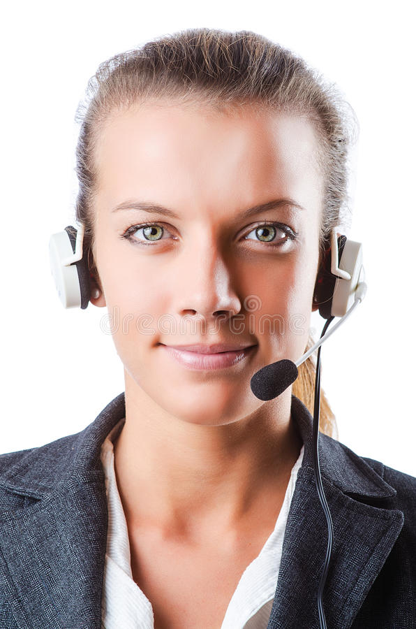 Download Call Center Operator Isolated Royalty Free Stock Images - Image: 26480199