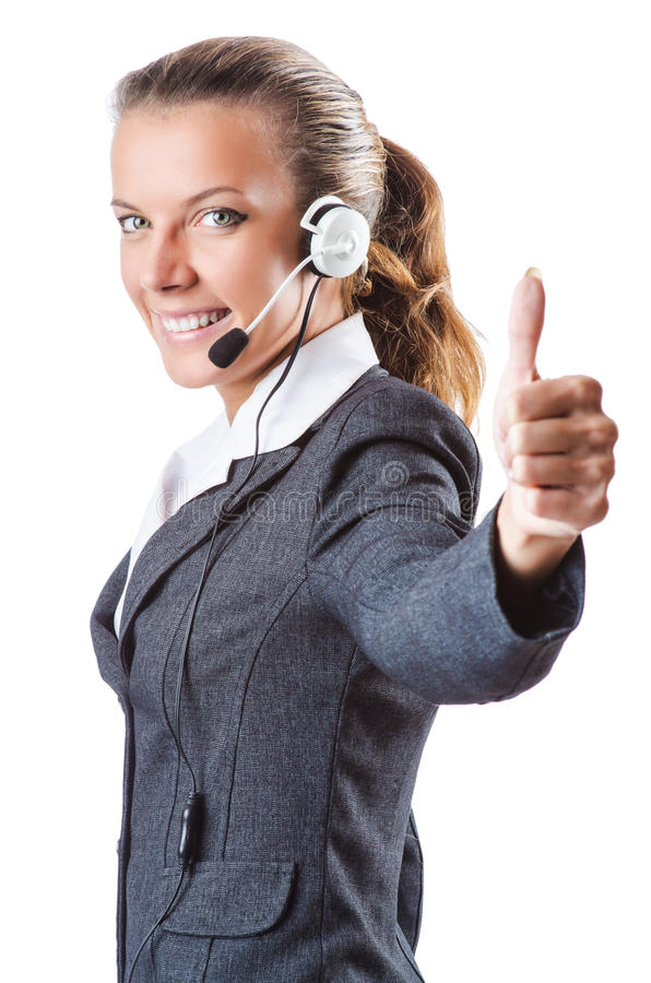 Download Call Center Operator Isolated Stock Image - Image: 26841959