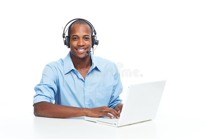 Call center operator man. stock photography