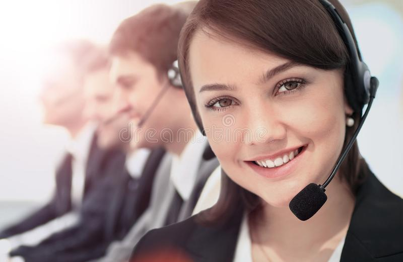 Call Center, Operator, Women. royalty free stock images
